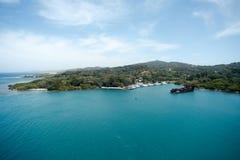 Baie d'acajou, Roatan, Honduras Photos stock