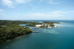 Baie d'acajou, Roatan, Honduras Photographie stock libre de droits