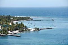 Baie d'acajou, Roatan, Honduras Photographie stock
