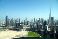 Baie d'affaires à Dubaï, une forêt de gratte-ciel photo stock