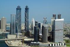 Baie d'affaires à Dubaï, une forêt de gratte-ciel images stock
