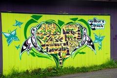 Baie d'alerte de graffiti de choc de culture, AVANT JÉSUS CHRIST Images stock