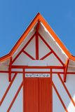 Baie d'Arcachon, France D?tail de la maison d'un p?cheur dans Piraillan photos stock
