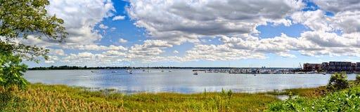 Baie d'Eastchester en parc de baie de Pelham, Bronx, New York City, Etats-Unis Photo stock