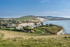 Baie d'eau douce sur l'île du Wight Images libres de droits