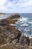 Baie d'enfer, Bryher, îles de Scilly, Angleterre photographie stock libre de droits