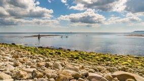 Baie d'Osmington, côte jurassique, Dorset, R-U photo stock