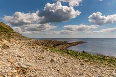 Baie d'Osmington, côte jurassique, Dorset, R-U photographie stock libre de droits