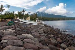 Baie dans Amed, Bali photo stock