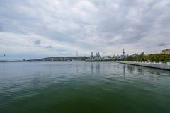 Baie de Bakou, Mer Caspienne Image stock
