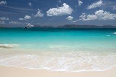 Baie de banc, île d'Anguilla, des Caraïbes Images libres de droits