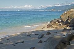Baie de Banderas par l'océan pacifique mexicain images libres de droits