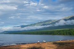Baie de Barguzinsky du lac Baïkal Photographie stock