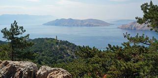 Baie de Baska Croatie images libres de droits