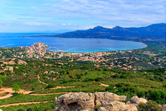 Baie de Calvi Photos stock