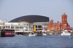 Baie de Cardiff Photos stock