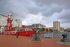 Baie de Cardiff Photos libres de droits