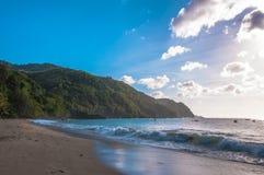 Baie de Castara au Tobago Photo libre de droits