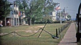 BAIE DE CHESAPEAKE, LE MARYLAND 1966 : Phare de détroit de Hoopers nouvellement déplacé et reconstitué de l'original banque de vidéos