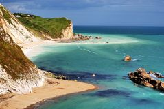 Baie de contrebandiers, Dorset photo stock