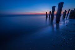 Baie de coucher du soleil Photo stock