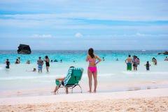 Baie de fer à cheval de vue de plage Photographie stock libre de droits