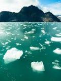 Baie de flottement Alaska Amérique du Nord d'Aialik de l'océan pacifique d'icebergs Photos libres de droits