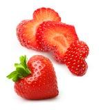 Baie de forme de coeur de fraise Photographie stock libre de droits