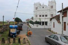 Baie de Galle sur la côte de sud-ouest de Sri LankaSINHALA Examen de client images stock
