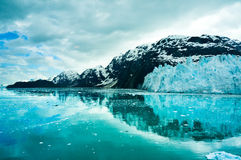 Baie de glacier en Alaska, Etats-Unis Image stock