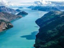 Baie de glacier : là où le glacier rencontre la mer Photographie stock libre de droits