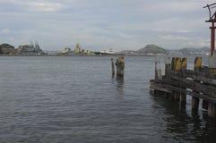 Baie de Guanabara en Rio de Janeiro, Brésil images libres de droits