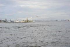 Baie de Guanabara en Rio de Janeiro, Brésil photos libres de droits