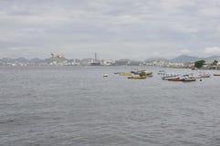 Baie de Guanabara en Rio de Janeiro, Brésil image libre de droits