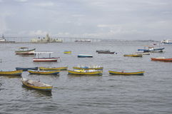 Baie de Guanabara en Rio de Janeiro, Brésil photographie stock libre de droits
