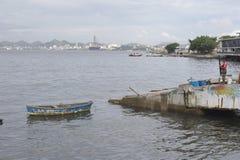 Baie de Guanabara en Rio de Janeiro, Brésil image stock