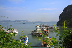 Baie de Halong dans Quangninh, Vietnam Image libre de droits