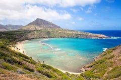 Baie de Hanauma en Hawaï Images libres de droits