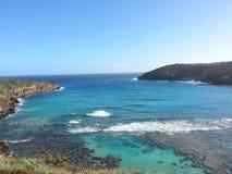 Baie de Hanuama dans Oahu HAWAÏ Etats-Unis image stock