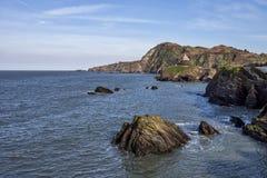 Baie de Hele dans Devon du nord photo libre de droits