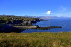 Baie de Hellnar sur l'Islande Images libres de droits