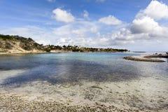 Baie de Jan Thiel sur le Curaçao photos stock
