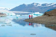 Baie de Jokulsarlon, Islande Photographie stock libre de droits