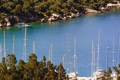 Baie de Kas Marina en Turquie Images libres de droits