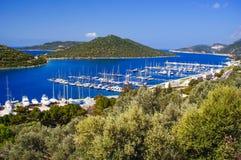 Baie de Kas Marina en Turquie Image libre de droits