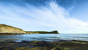 Baie de Kimmeridge dans Dorset - vidéo de laps de temps clips vidéos