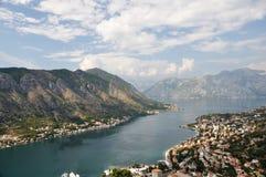 Baie de Kotor Images libres de droits