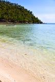 baie de l'Asie le bateau blanc de plage d'île phangan de KOH images libres de droits