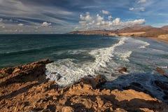 Baie de La épluchée, Fuerteventura, Îles Canaries Photos stock