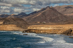 Baie de La épluchée, Fuerteventura, Îles Canaries Photographie stock libre de droits
